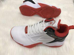 Giày bóng rổ màu trắng đế đỏ LZBU độc quyền phân phối Belo Sport