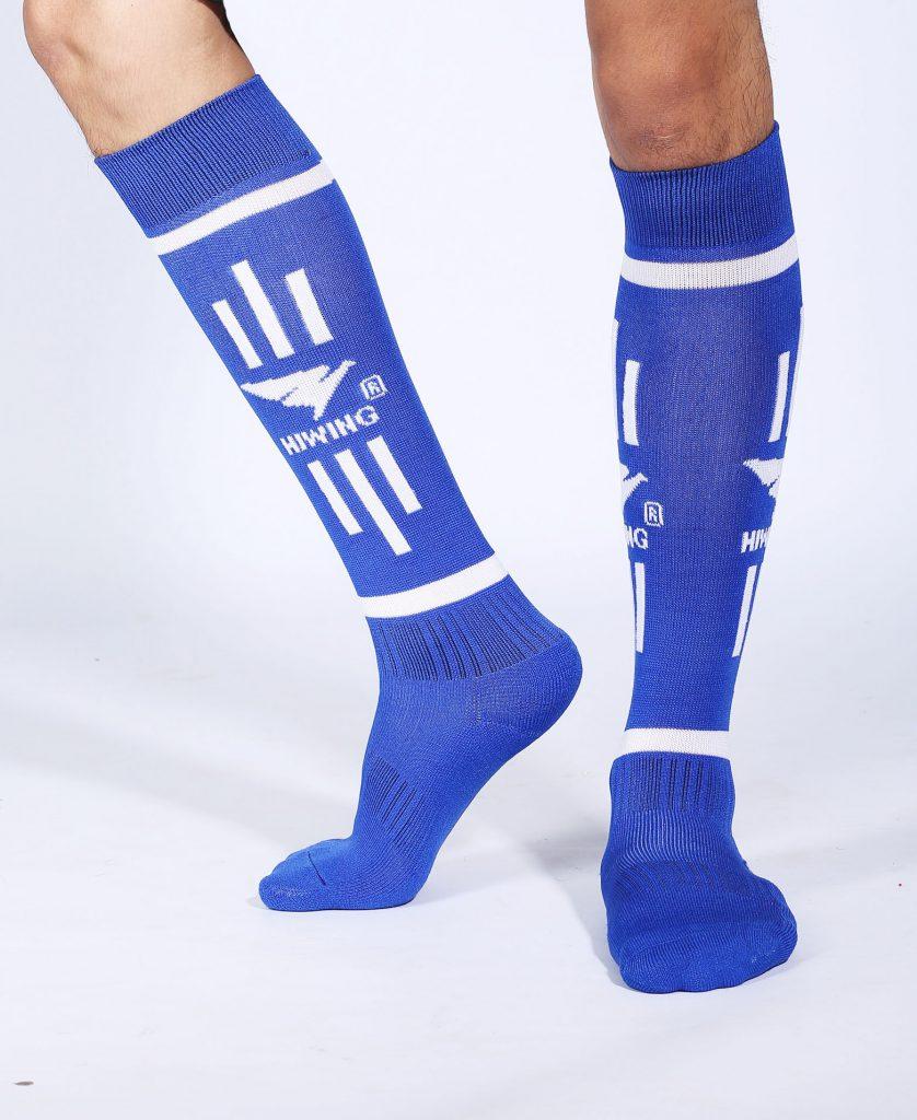 Tất bóng chuyền, tất cầu lông, bóng đá thể thao Hiwing màu xanh dương chính hãng