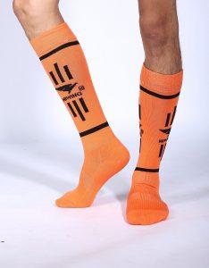 Tất bóng chuyền, tất cầu lông, bóng đá thể thao Hiwing màu cam chính hãng