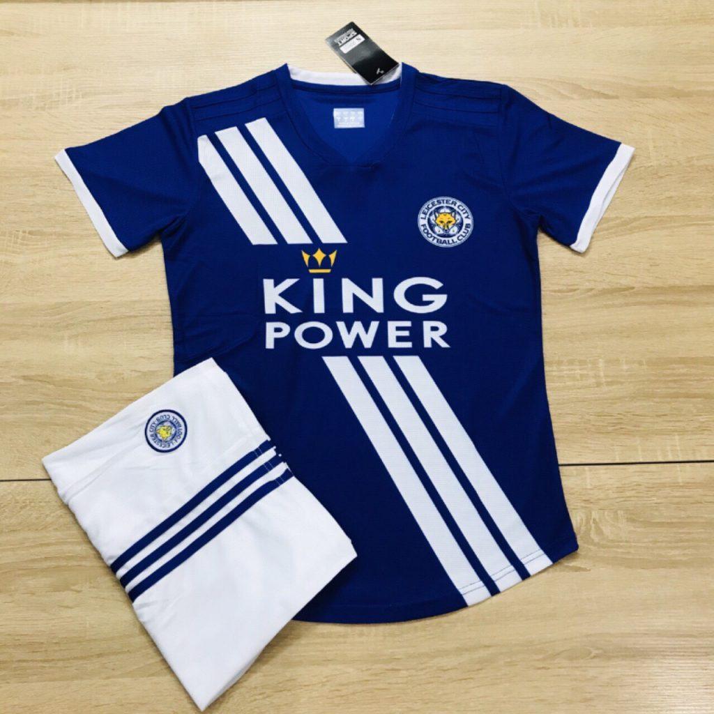 Áo bóng đá CLB Leicester City màu xanh dương năm 2020