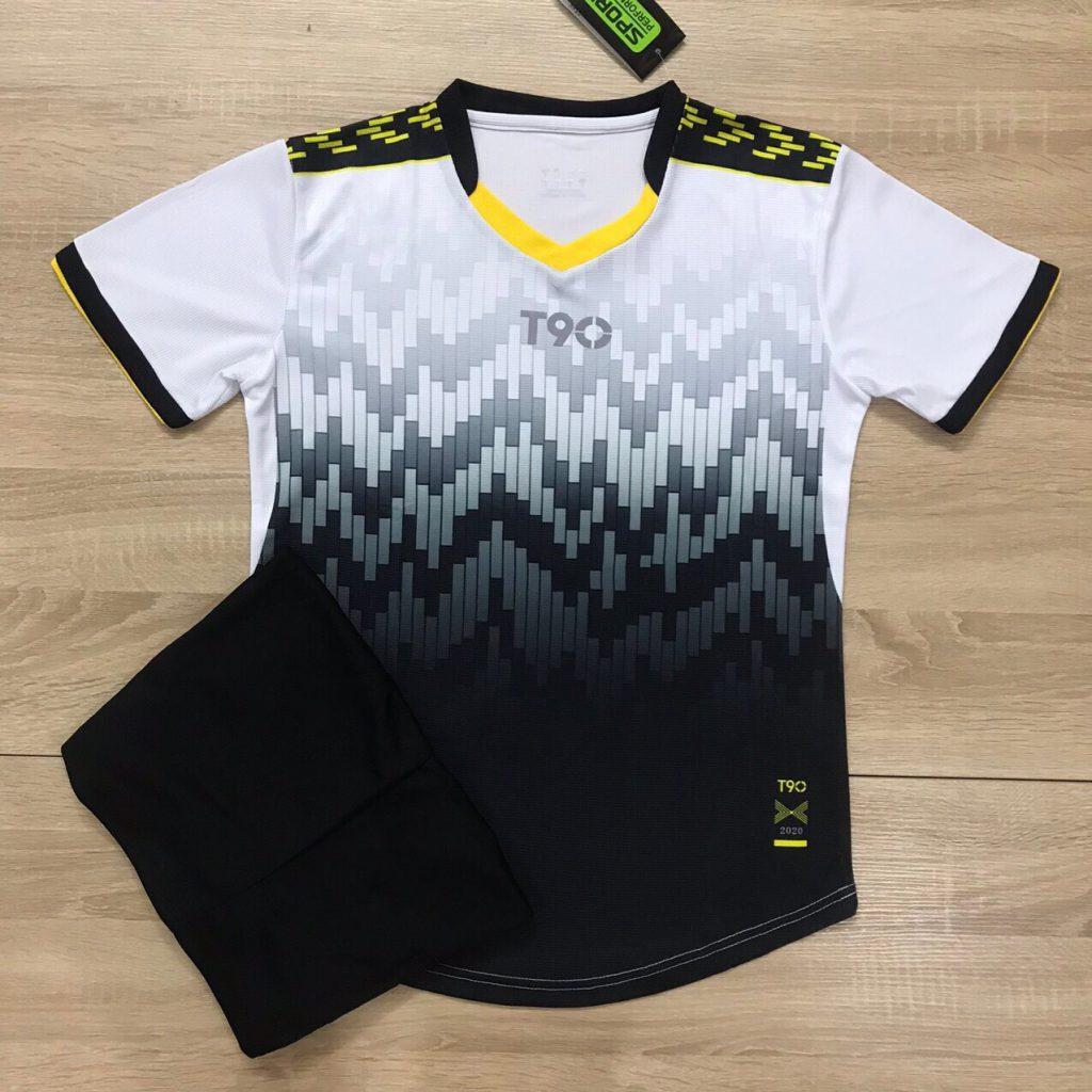 Áo bóng đá không logo T90 màu đen năm 2020