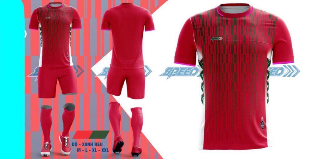 Áo bóng đá không logo Speed màu đỏ năm 2020