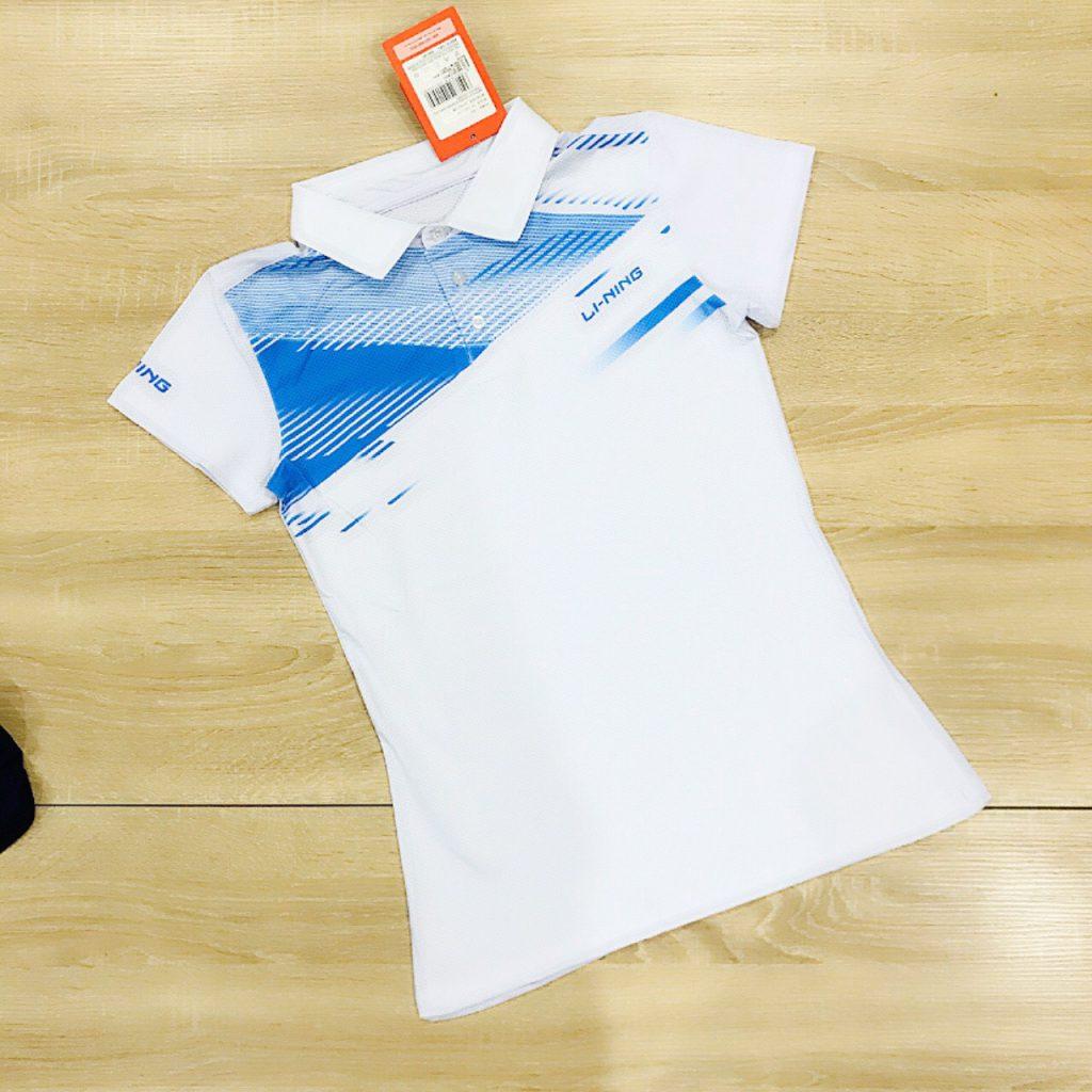 Áo cầu lông nam nữ Lining màu trắng năm 2020 độc quyền Belo Sport
