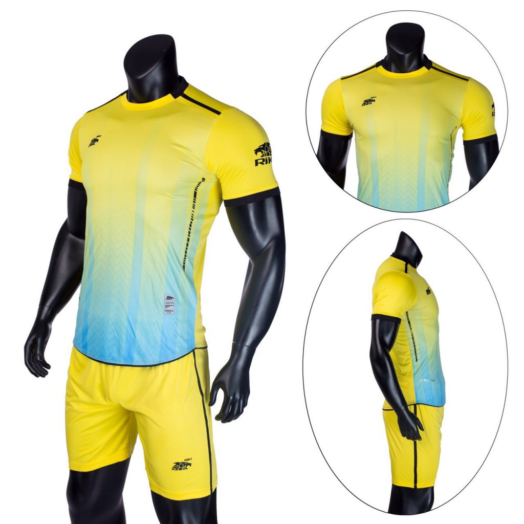 Áo bóng đá không logo Riki màu vàng năm 2020 độc quyền Belo Sport