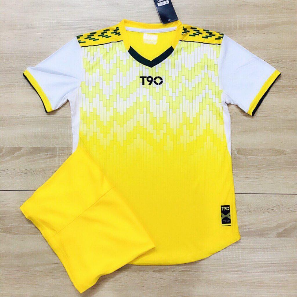 Áo bóng đá không logo T90 màu vàng năm 2020