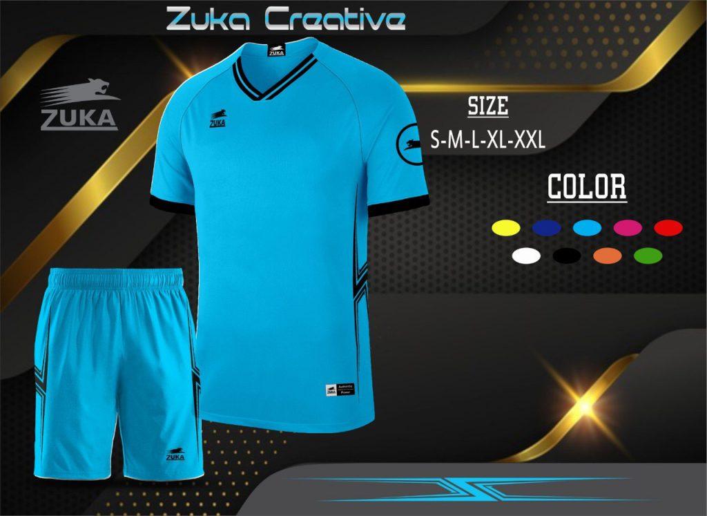 Áo bóng đá không logo Zuka màu xanh da trời năm 2020