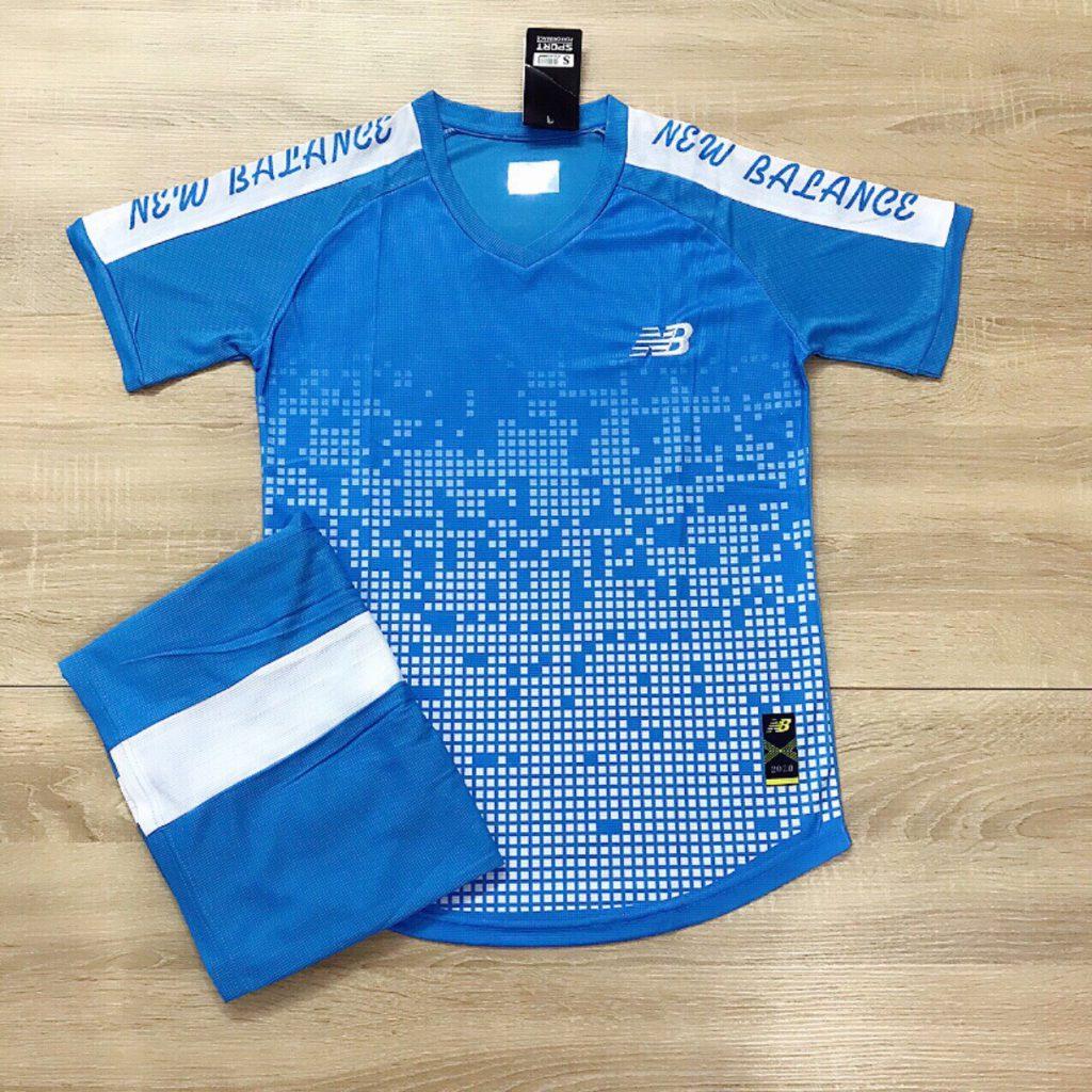Áo bóng đá không logo NB2 màu xanh dương