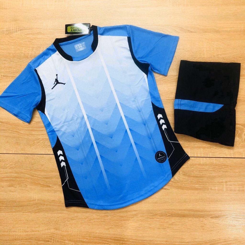 Áo bóng đá không logo BL màu xanh da trời năm 2020