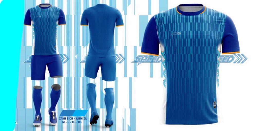 Áo bóng đá không logo Speed màu xanh dương năm 2020