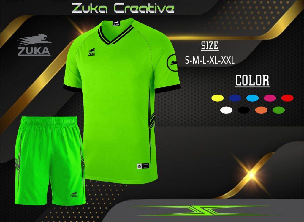 Áo bóng đá không logo Zuka màu xanh lá năm 2020