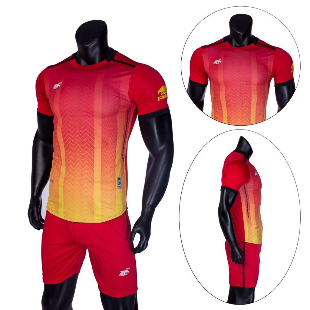 Áo bóng đá không logo Riki màu đỏ năm 2020 độc quyền Belo Sport