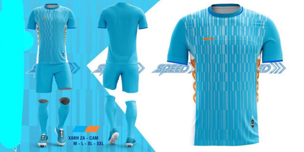 Áo bóng đá không logo Speed màu xanh da trời năm 2020