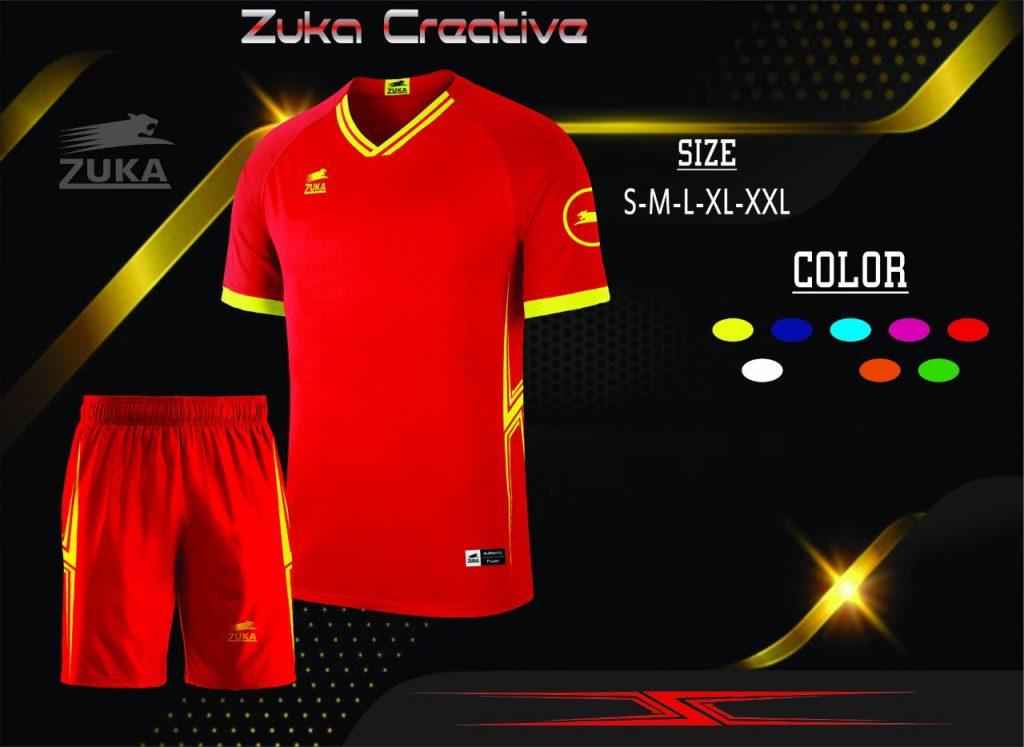 Áo bóng đá không logo Zuka màu đỏ năm 2020