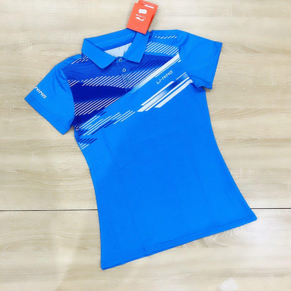 Áo cầu lông Lining màu xanh dương năm 2020 độc quyền Belo Sport