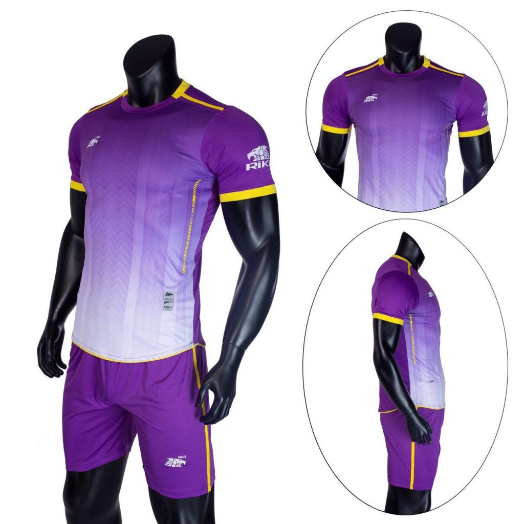 Áo bóng đá không logo Riki màu tím năm 2020 độc quyền Belo Sport