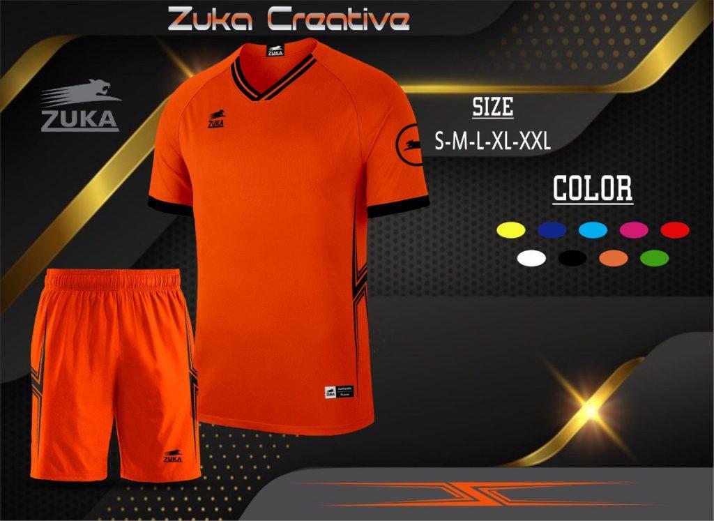 Áo bóng đá không logo Zuka màu da cam trời năm 2020