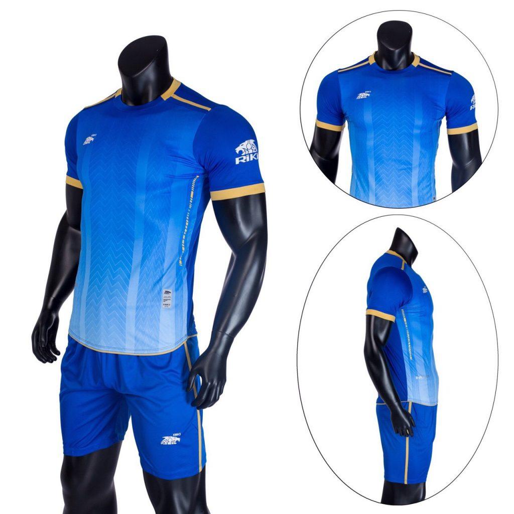 Áo bóng đá không logo Riki màu xanh dương năm 2020