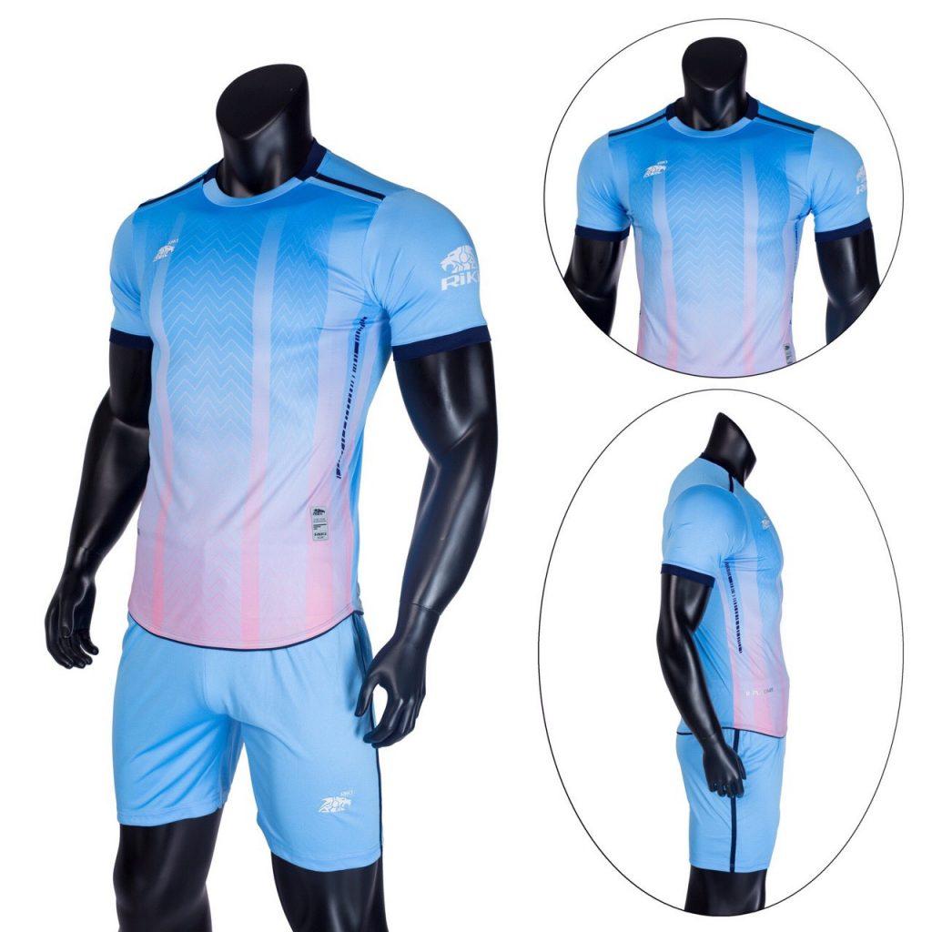 Áo bóng đá không logo Riki màu xanh da trời năm 2020 độc quyền Belo Sport