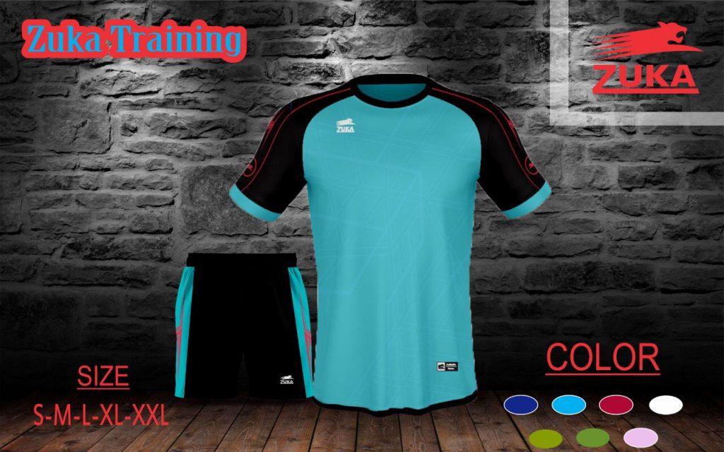 Áo bóng đá không logo Zuka 2 màu xanh da trời năm 2020