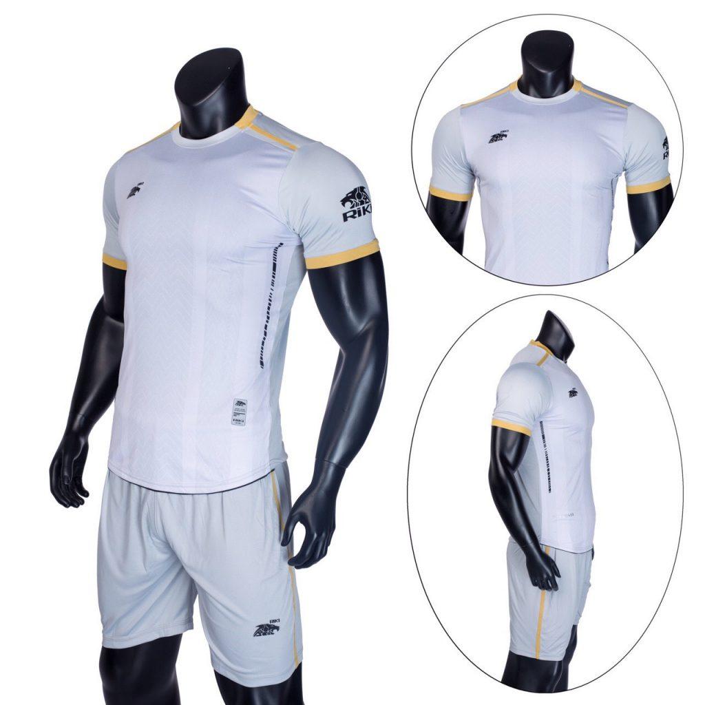 Áo bóng đá không logo Riki màu trắng năm 2020 độc quyền Belo Sport