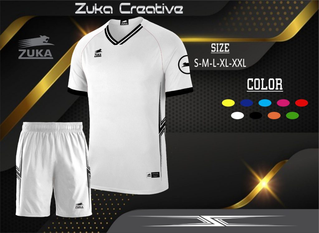 Áo bóng đá không logo Zuka màu trắng năm 2020