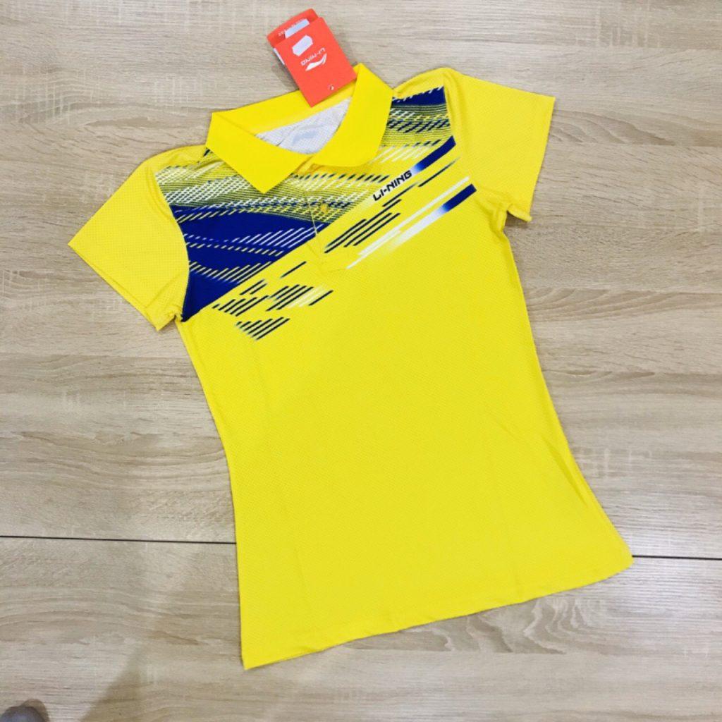 Áo cầu lông nam nữ Lining màu vàng năm 2020 độc quyền Belo Sport