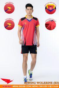 Áo bóng chuyền nam Hiwing Volverine H3 màu đỏ