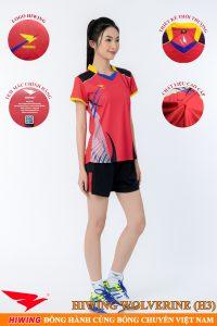 Áo bóng chuyền nữ Hiwing Volverine H3 màu đỏ