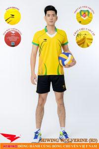Áo bóng chuyền nam Hiwing Volverine H3 màu vàng
