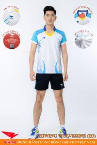Áo bóng chuyền nam Hiwing Volverine H3 màu trắng