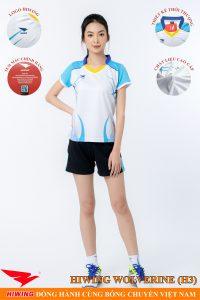 Áo bóng chuyền nữ Hiwing Volverine H3 màu trắng
