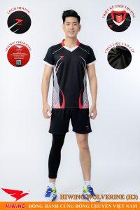 Áo bóng chuyền nam Hiwing Volverine H3 màu đen