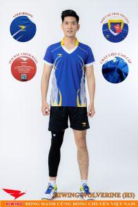 Áo bóng chuyền nam Hiwing Volverine H3 màu xanh dương