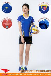 Áo bóng chuyền nữ Hiwing Volverine H3 màu xanh dương