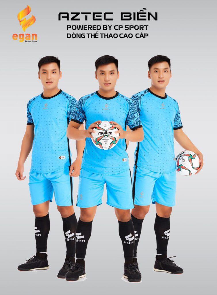 Áo bóng đá Egan Aztec màu xanh dương năm 2020