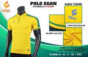 Áo đồng phục Polo Egan cao cấp màu vàng năm 2020