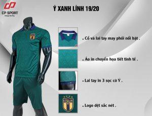 Áo bóng đá CP đội tuyển Italia màu xanh lục năm 2020
