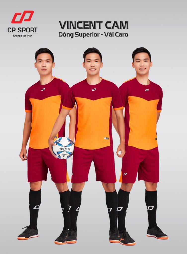 Áo bóng đá CP Vincent màu da cam năm 2020