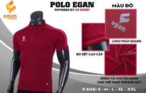 Áo đồng phục Polo Egan cao cấp màu đỏ năm 2020