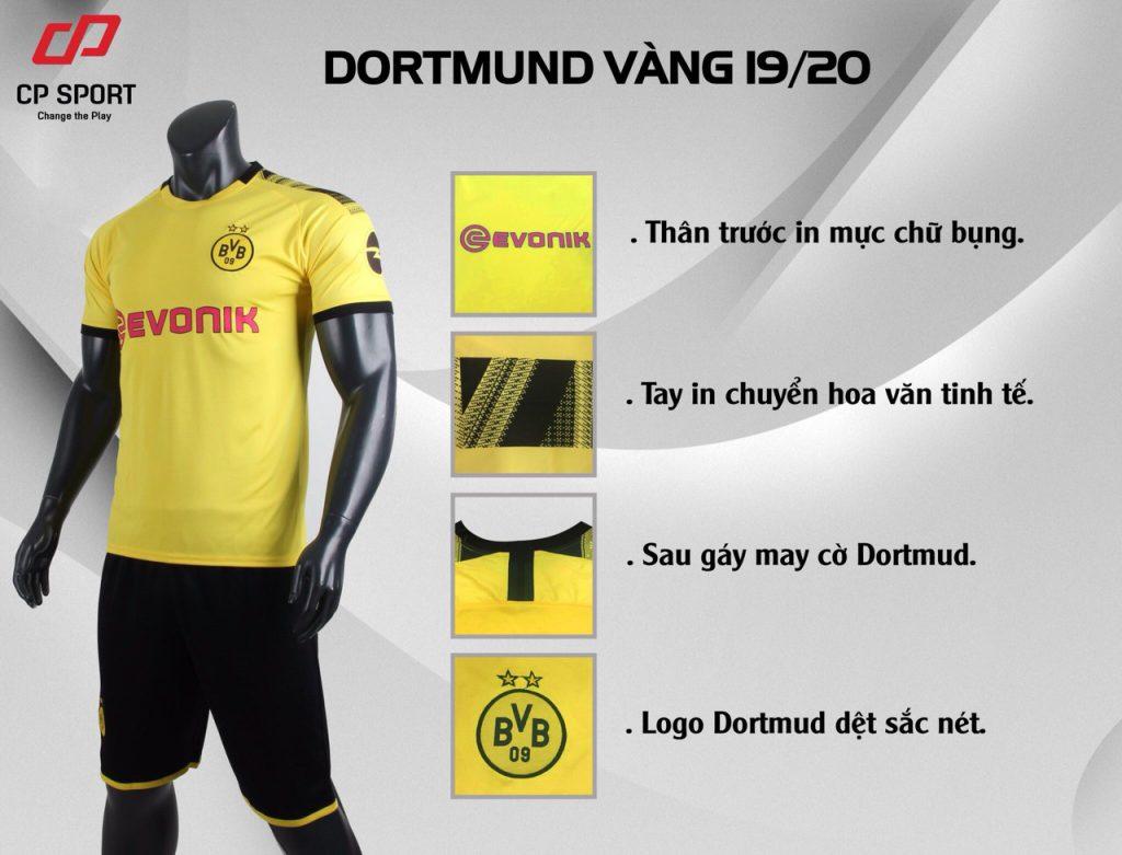 Áo bóng đá CP CLB Dortmund màu vàng năm 2020