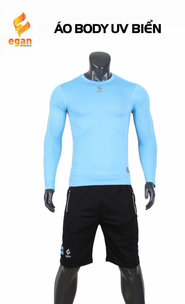 Áo lót body cao cấp Egan chống tia UV màu xanh biển