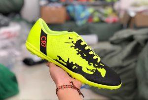 Giày bóng đá trẻ em CR7 màu vàng chanh mới nhất 2020