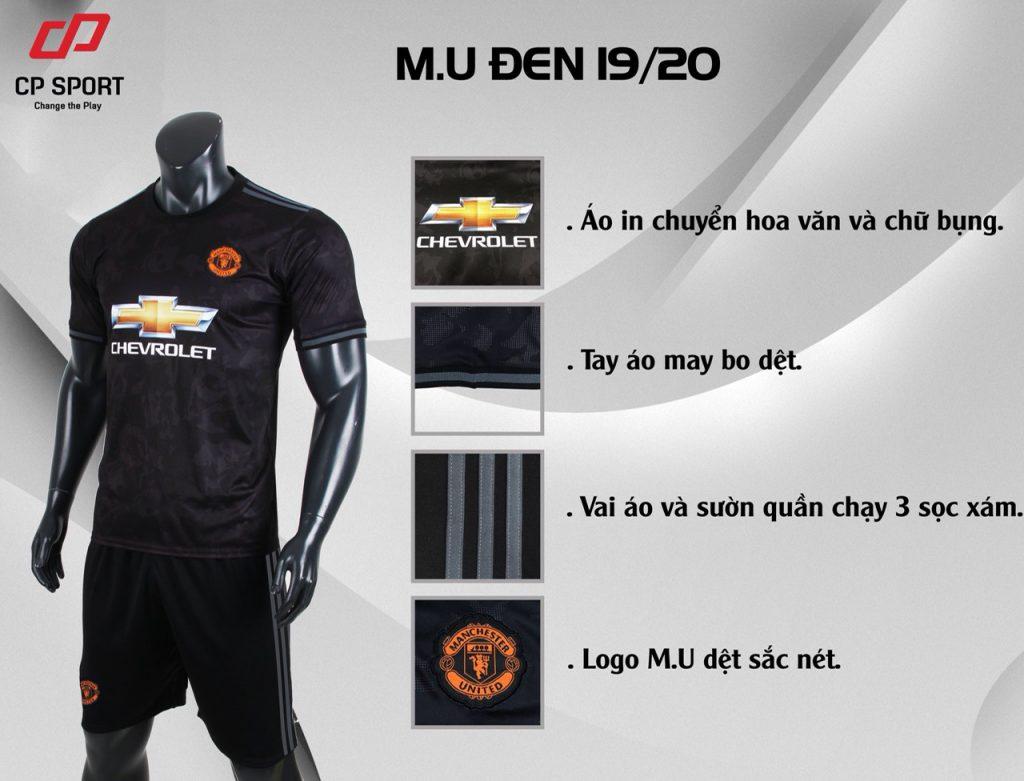 Áo bóng đá CP CLB Man United màu đen năm 2020