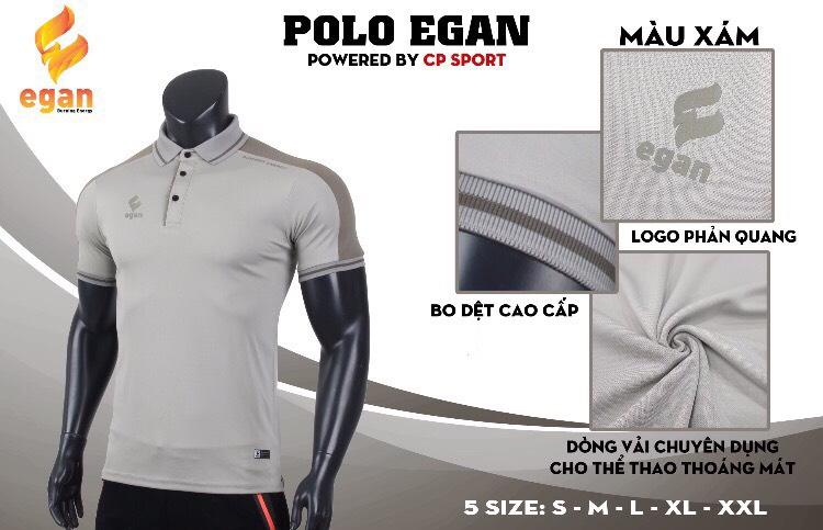 Áo đồng phục Polo Egan cao cấp màu xám năm 2020
