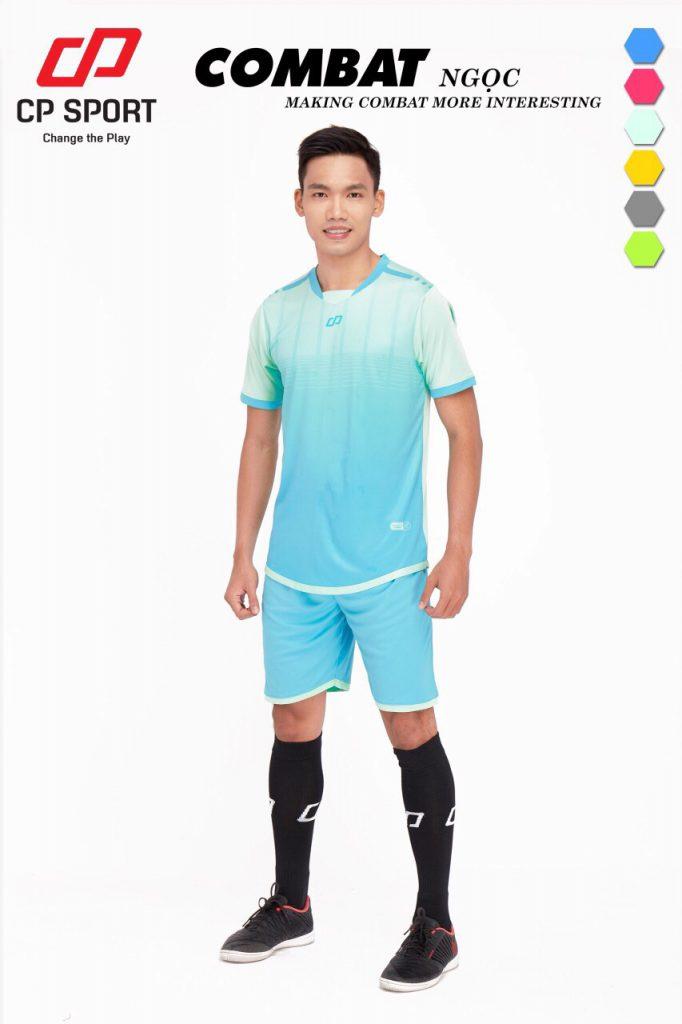 Áo bóng đá CP Combat màu xanh da trời năm 2020