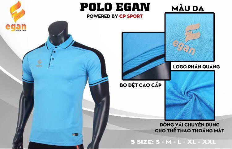 Áo đồng phục Polo Egan cao cấp màu xanh da trời năm 2020
