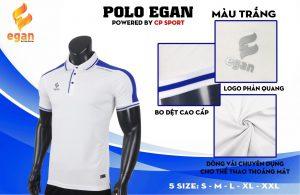 Áo đồng phục Polo Egan cao cấp màu trắng năm 2020