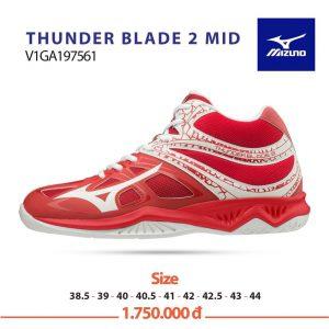 Giày bóng chuyền Mizuno THUNDER BLADE 2 MID V1GA197561 chính hãng