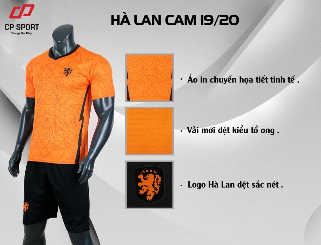 Áo bóng đá CP đội tuyển Hà Lan màu da cam năm 2020