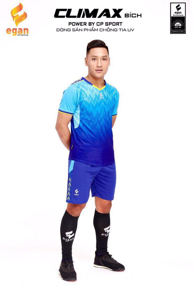 Áo bóng đá Egan Climax màu xanh dương năm 2020